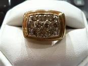Gent's Diamond Cluster Ring 10 Diamonds 1.54 Carat T.W. 14K Yellow Gold 12.1g